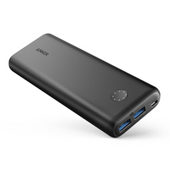 Anker PowerCore II 20.000 mAh powerbank PowerIQ 2.0 QC 3.0 powerbank črn